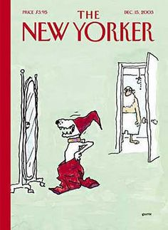 in so many words...: New Yorker Christmas Covers - Artist: George Booth