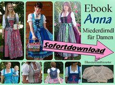 Nähanleitungen Mode - Ebook Damenmiederdirndl + Bluse + Schürze ANNA - ein Designerstück von mondbresal bei DaWanda