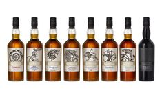 Game of Thrones just released eight bottles of single malt scotch whisky, each from a lauded Scottish distillery, and each is paired with one of the Houses of Westeros or the Night's Watch. Game Of Thrones, Scotch Whisky, Champagne, Good Whiskey, Rye Whiskey, Single Malt Whisky, Liquor Store, Distillery, Bourbon
