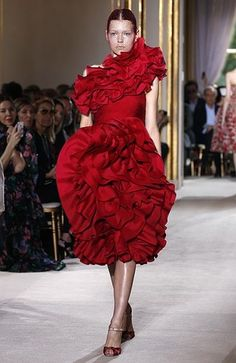 RED. As seen in Giambattista Valli's F/W 2013 Haute Couture collection.