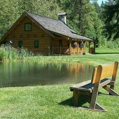 A Beautiful piece of Land with a Wonderful Country Cabin. With my own Trout Pond, that would be Amazing!