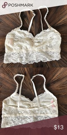 11410e3b44 Description  Set of 2 Lace Bralette s NEW Victoria s Secret PINK Ivory Lace  Bralette Medium