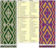 """Quadrifolium"" 34 tarjetas, 3 colores, repite cada 30 movimientos // sed_929 diseñado en GTT༺❁"