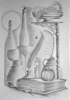 67 Ideas For Art Pencil Shading 3d Art Drawing, Pencil Sketch Drawing, Pencil Shading, Pencil Art Drawings, Painting & Drawing, Drawing Ideas, Fall Drawings, Art Drawings Sketches Simple, Outline Drawings
