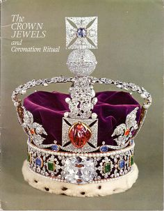 The Imperial State Crown, created by Garrard & Co. c.1937. Gold, platinum, silver, diamonds, rubies, emeralds, sapphires, spinel, pearls, velvet, ermine.