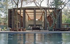"""""""Boxy glam amid coconut grove"""", best describes a jewel of a Costa Lanta boutique resort on Koh Lanta Yai (Lanta Yai Island) in the Andaman sea. The first project from Thai wunderkid arc… Tropical Architecture, School Architecture, Landscape Architecture, Landscape Design, Architecture Design, Chinese Architecture, Modern Asian, Modern Tropical, Tropical Houses"""