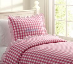 Eleanor Duvet Cover #PotteryBarnKids  that pillow case is cute i like the fringe on the outside