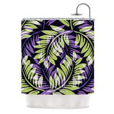 Dark Fern by Alison Coxon Shower Curtain