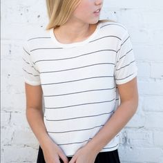 Brandy Melville Nadine Top Ultra soft, scoop neck tee from Brandy Melville!! New condition...worn once!! Brandy Melville Tops Tees - Short Sleeve