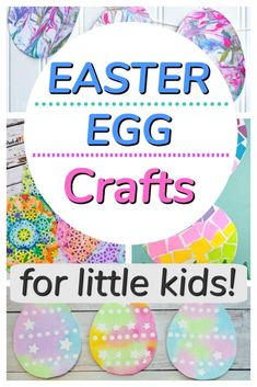 Easter egg crafts for kids to make! These paper crafts are great for spring and for toddlers and preschoolers. Easter Arts And Crafts, Preschool Arts And Crafts, Easter Activities, Easter Crafts For Kids, Spring Activities, Spring Crafts, Easter Ideas, Learning Activities, Creative Activities