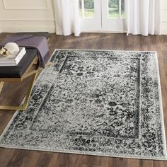 Better Homes And Gardens Gray Distressed 5u0027 X 7u0027 Area Rug