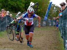 Caroline Mani (Raleigh Clement) chasing the leaders on Mt. Krumpit during lap two