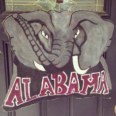Alabama burlap door hanger by  Smudge My Art