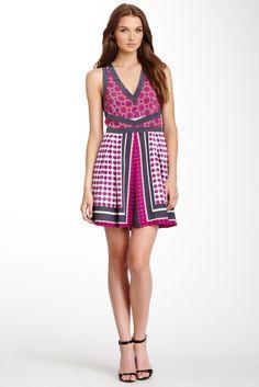 I want this dress! Madison Marcus V-Neck Print Dress