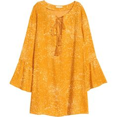 Mönstrad klänning 129 ($35) ❤ liked on Polyvore featuring dresses, orange dress and harness dress