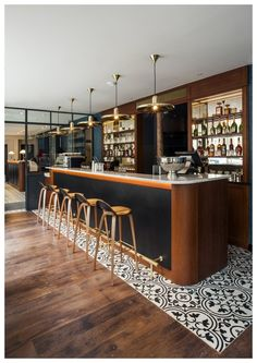 Selection of luxury bar designs to inspire you for your next interior design project ! Interior design trends to help to decor your bar! Restaurant Interior Design, Cafe Interior, Modern Interior Design, Design Hotel, Luxury Interior, Design Interiors, Modern Interiors, Bar Lounge, Bar Restaurant