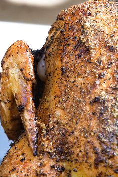 Cooking chicken has never been easier. Simply coat a whole chicken in olive oil and Grill Mates® Montreal Chicken Seasoning, place over a can of beer, then grill over indirect heat. Can Chicken Recipes, Meat Recipes, Cooking Recipes, Beer Can Chicken Seasoning Recipe, Rotisserie Chicken Seasoning, Recipes Dinner, Beer Chicken, Canned Chicken, Grilled Whole Chicken