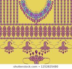 silk shirt front design for textile and digital print Textile Patterns, Textile Prints, Textiles, Art Nouveau, Art Deco, Front Design, White Patterns, Royalty Free Images, Digital Prints