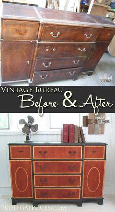 Vintage Bureau Gets Makeover | Prodigal Pieces | www.prodigalpieces com