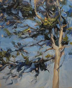 tree en plein air ~ oil on panel ~ by derek penix Landscape Art, Landscape Paintings, Paintings I Love, Tree Paintings, Tree Art, Oeuvre D'art, Painting Inspiration, Painting & Drawing, Photo Art