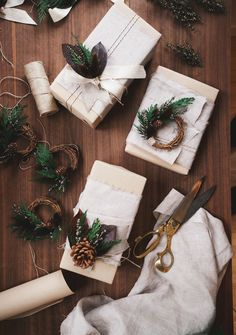 As important as the contents of your gift surely are, so too is the exterior. Yep, we're in the business of details, and one of the most important details of all when it comes to gifting is the presentation. Read on for three easy, elegant, and festive gift wrap projects you'll want to try out this holiday season.