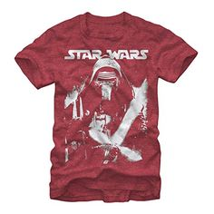 Star Wars Kylo Ren Stare Down Mens Graphic T Shirt *** Details can be found by clicking on the image.
