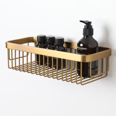 High-quality luxury bar basket, ideal for keeping your bottles neat and tidy!  Finished in Brushed Gold.