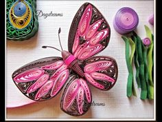 Art & Craft How to make Beautiful Butterfly using Paper Quilling art Tut...