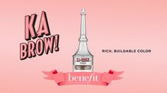 Shop Benefit's ka-BROW! at Sephora. The cream-gel formula has a built-in brush that glides on smoothly to easily shape, fill, and define your brows.