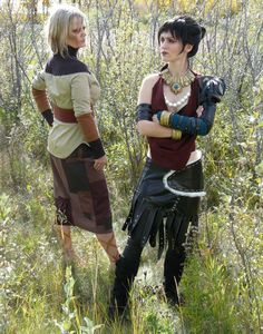 "Mother and Daughtrer cosplay team as Flemeth and Morrigan of Bioware's Dragon Age Origins. ""We each hand-crafted our costumes, and the photo was taken by my most lovely"" ~Militant-Antibody"