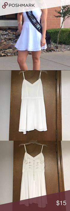 Little white dress Only worn once, super cute back cutouts Forever 21 Dresses