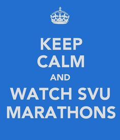 Which doesn't make sense at all because...psh, SVU.