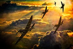 Spitfire Attack by Chris Lord Photo Art Print Poster