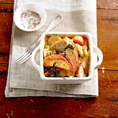 A medley of fork-tender veggies and homestyle gravy join turkey in this comforting casserole recipe. Ham And Potato Casserole, Turkey Casserole, Vegetable Casserole, Easy Casserole Recipes, Casserole Dishes, Turkey Recipes, Dinner Recipes, Fall Recipes, Hot Chicken Salads