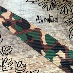 Camouflage grosgrain ribbon Grosgrain Ribbon, Friendship Bracelets, Camouflage, Personalized Items, Military Camouflage, Camo, Friend Bracelets, Military Style