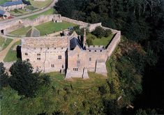 Aydon Castle from the air