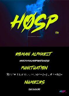 Hosp Font - Free Handwritten Brush Typeface #brush #fonts #typography Best Free Fonts, Font Free, Roman Alphabet, Police, Free Fonts For Designers, Brush Font, Social Media, Ps, Art