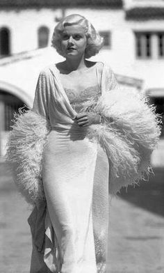 """Think you know Jean Harlow, classic Hollywood's """"Blonde Bombshell""""? Here are some little-known facts about Jean's life, loves, death -- and Rin-Tin-Tin. Old Hollywood Glamour, Golden Age Of Hollywood, Vintage Glamour, Vintage Hollywood, Hollywood Stars, Classic Hollywood, Planet Hollywood, Jean Harlow, Madonna"""