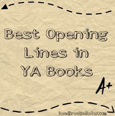 Best opening lines in young adult books