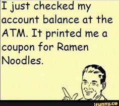 Yep, you're broke