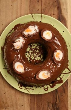Creme Egg Bundt Cake