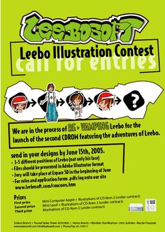 Poster for the redesign of Leebo