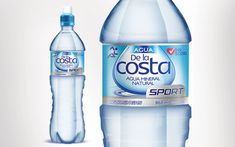 New packaging and branding design for the sport version of Agua de la Costa Water Packaging, Water Branding, Agua Mineral, Mineral Water, Label Design, Packaging Design, Branding Design, Water Shape, All About Water