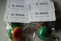 Have a Ball! Think I might do this for Sawyer's Valentine's Day presents for his class!!!!