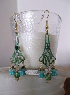 """""""Flower Drop"""" earrings $15.00"""