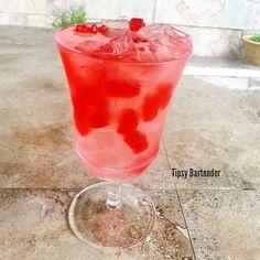 Tipsy BartenderRED GUMMY BEAR LOVE 1 1/2 oz. (45ml) Raspberry Vodka 1 1/2 oz. (45ml) Peach Schnapps Equal parts Sour Mix and Sprite Splash Grenadine Red Gummy Bears