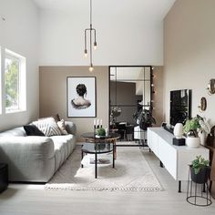 Nordic Living Room, Ikea Living Room, Home And Living, Apartment Interior, Apartment Living, Nordic Interior, Piece A Vivre, Home Decor Furniture, Furniture Stores