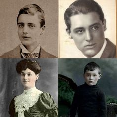 Cary Grant and his parents,Elias and Elsie Leach.He looks so much like his father more than with his mother