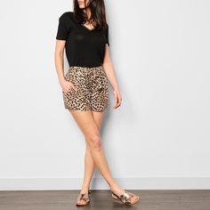 Qalypso Leopard Print Shorts-product