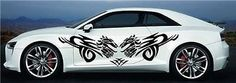 Dragon CAR Vinyl for 2 Sides Graphics Decals Any Car Sticker 7884